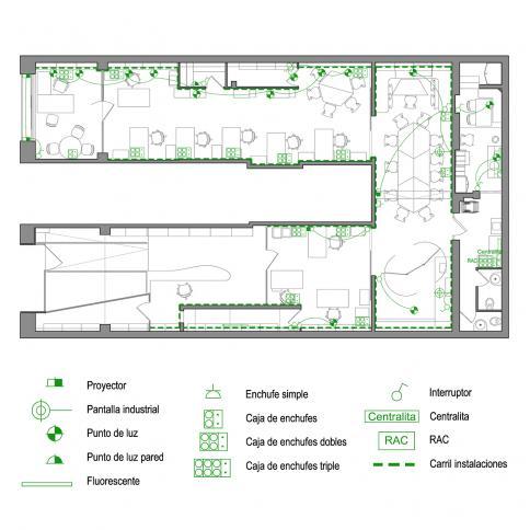 © Bogdanov Arquitectes – plano de instalaciones