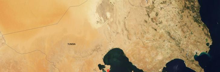Localización desaladora  Djerba - imagen satélite